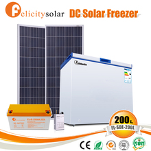 Trade assurance customized solar energy 12 volt chest freezer for Gambia