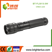 Factory Wholesale 3*AAA battery Operated Metal Material Multi-function Zoom Focus 3W Cree Power Light led Torch