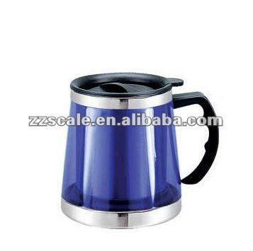 Tumbler Auto mug Bell big belly Double wall Eco-friendly Stainess steel auto travel cup beer mug with Elastic rubber cover