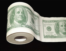 2ply ONE HUNDRED DOLLAR&500 EURO print toilet paper roll,custom print paper rolls