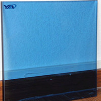 Good price 4mm 5mm 6mm lake blue reflective glass sheet