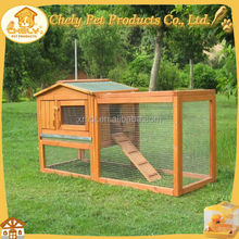 Cheap white wooden rabbit hutch with upper house design Pet Cages, Carriers & Houses