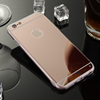 Gold luxury mobile case for Iphone Aluminum metal case, acrylic back aluminum bumper case for iphone 6 Plus 5.5 inch