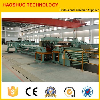 fully automatic coil slitting sheet iron shearing machine line