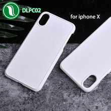 cell phone accessories white hard PC 2d sublimation blank phone case for iPhone X