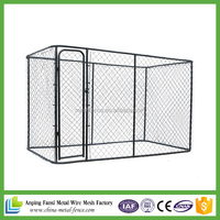 alibaba china hot dip galvanized chain link 10ftx10ftx6ft large dog cage