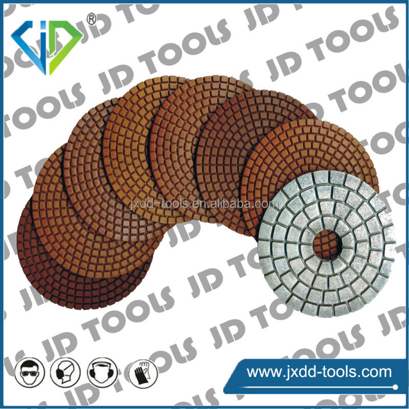 Granite wet diamond polishing pad for polishing machine