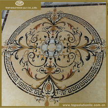 marble medallion tile lowes, flower waterjet marble tiles for flooing