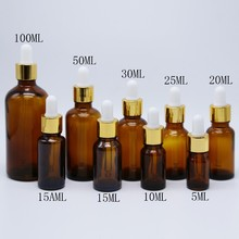 Factory Supplier 5ml 10ml 15ml 20ml 30ml 50ml 60ml 100ml Brown Glass Bottle