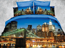 3D brushed microfibre photo print bedsheet,duvet cover set