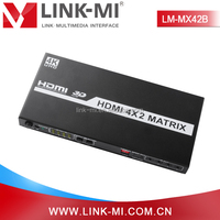 LM-MX42B 4 Ultra HD source to 2 Ultra HD display HDMI 4k2k 4 in 2 out Matrix Switch
