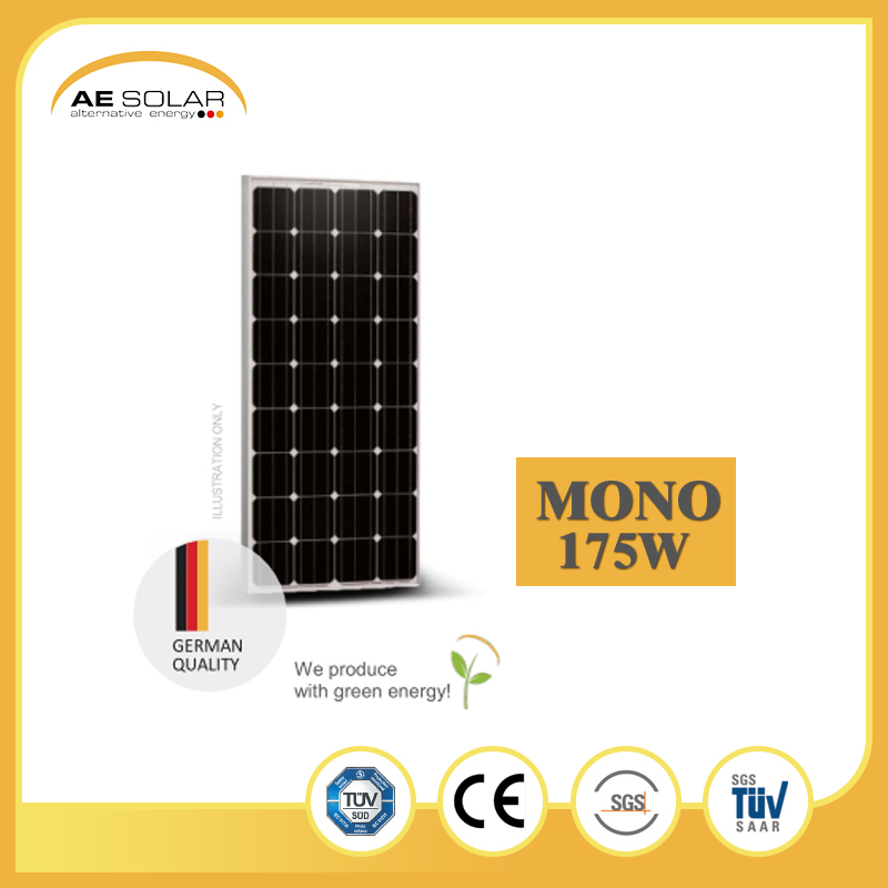 New Project Portable AE M5-60 Series 175w Mono Solar Panel With Protective Cover