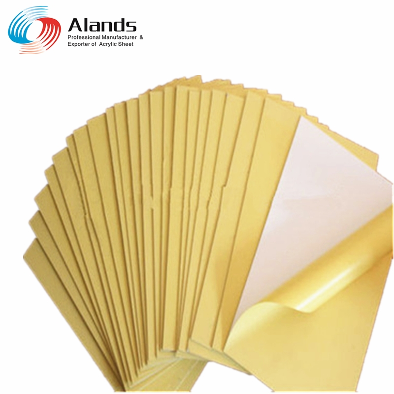PVC photo album inner sheet Self adhesive PVC album sheet with yellow paper