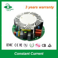 Constant current driver 1600ma led power supply 70w open frame round shape led driver