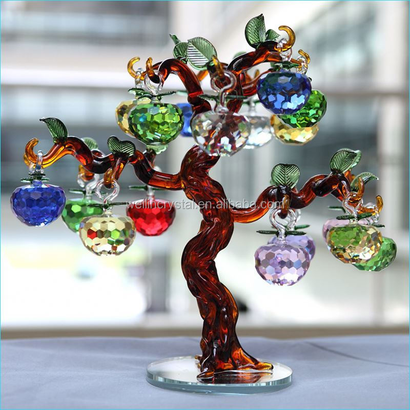 Various size color apple tree fashion optical k9 craft religious crystal gifts