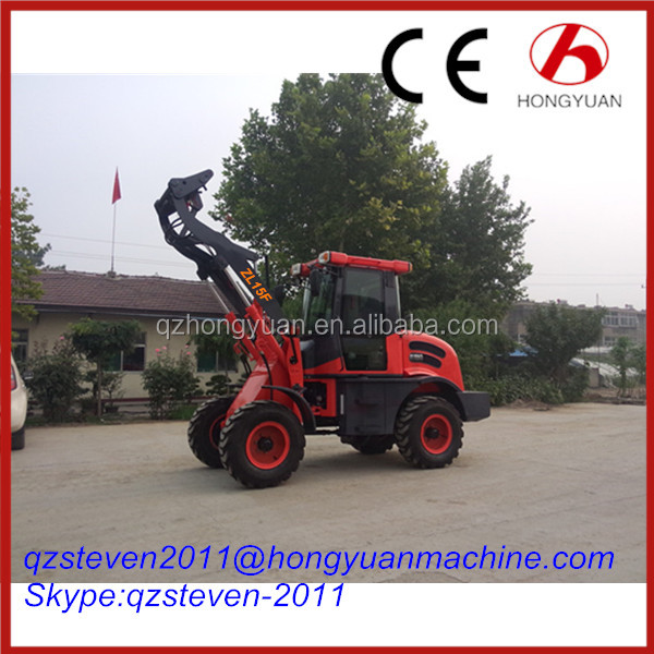 Hydraulic Converter high efficient HY ZL15F Mini wheel loader Tractor Price List