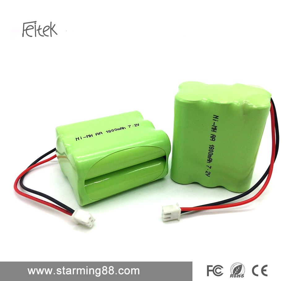 High quality Ni-MH AA 1800mAh 6V rechargeable battery pack for electronic equipment