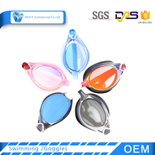 Silicone Frame Material and Transparent Lenses Color Swim Goggle