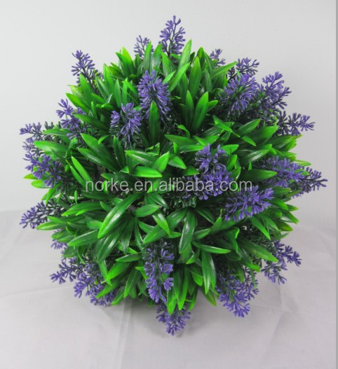 Artificial Plastic Flower Ball, Artificial Lavender Ball