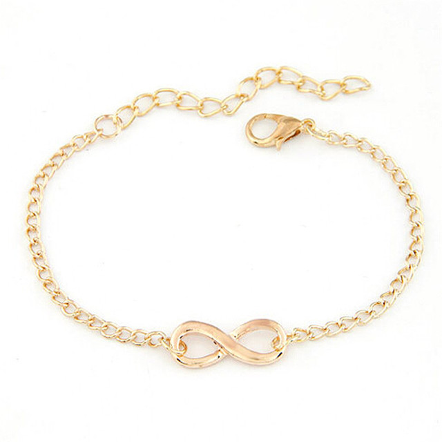 New Bracelet Women Handmade Gift Charm 8 Shape Jewelry Infinity Bracelets Men Hot Freeshipping Sanwony