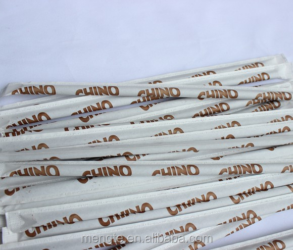 100% Biodegradable individual wrapped paper drinking straw 6x197mm with custom printing