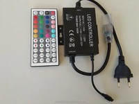High voltage AC110V 220V 1500W 44 key LED IR RGB Remote Controller 3X3A 9A For LED 5050 3528 led strip US Plug EU plug