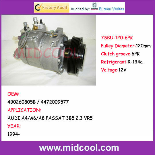 High Quality 4B0260805B / 4472009577 7SBU compressor for AUDI A4/A6/A8 PASSAT 3B5 2.3 VR5