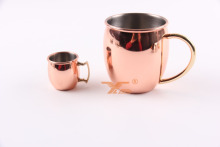 Wholesale antique Hammered Copper color Moscow stainless steel metal Mule water Mug cup with handle
