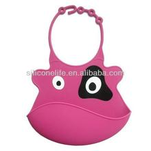 Easy Washable Cute Animal Shape Silicone Baby Bib,Baby Bibs Silicon