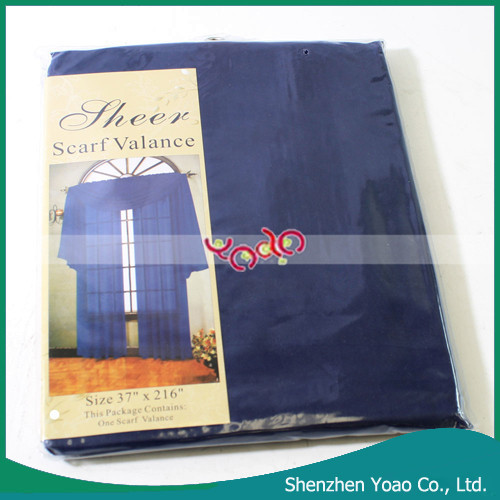 Sheer Ready Made Curtain with Valance