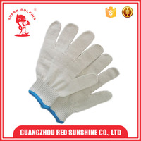 10G Seamless Machin Sewing Cheap White Cotton Gloves