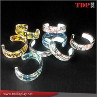 Factory Directly Clear Custom Number Pattern Plastic Acrylic Bracelet