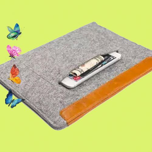 Creative zipper tablet felt material small trolley bag laptop