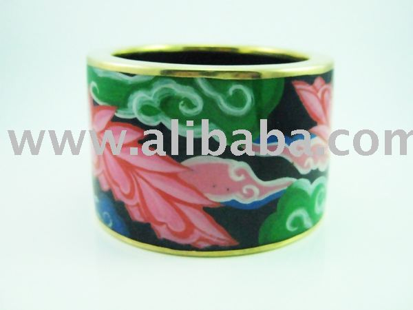 Hand Painted Wooden Bangle - Vairochana 1