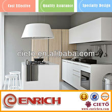 stylish handless high glossy innovative costumed kitchen cabinets for sale