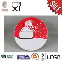 Christmas melamine dinner plate