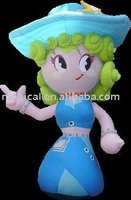 Lovely Inflatable Cute Girl Cartoon for Sale