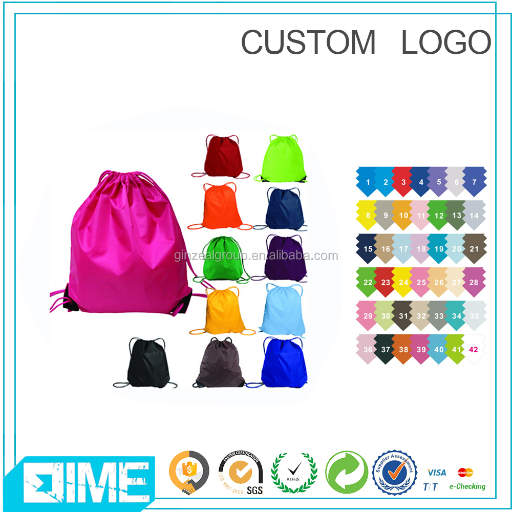 New Stylish Vintage Polyester Drawstring Bag Matching Shoe And Bag Set With Diffrence Pattern