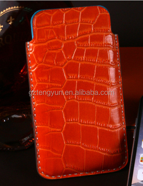 Manufacture Handmade Genuine Crocodile Leather Case For iPhne 6/6 Plus