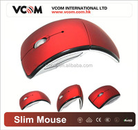 Mini USB 2.4Ghz Optical Wireless folding mouse 2014 New Arc portable foldable Mouse