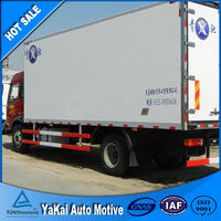 refrigerated truck box refrigerator packing box 6ton Dongfeng Cummins Engine Refrigerator Box Truck