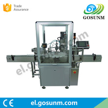 Automatic e-liquid bottle sorting labels filling capping sealing trap labeling machine