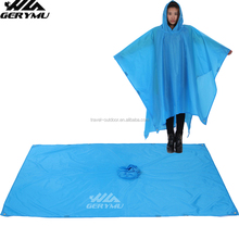 Easy Foldable Rain Coat Camping Blanket In Pockets Women/men PVC Super Rain-proof Rain Poncho