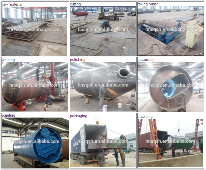 Waste tire pyrolysis plant to recycling rubber be fuel oil or diesel from professional supplier