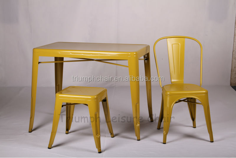 Triumph Marais Metal Frame Restaurant Furniture/Vintage Wooden Restaurant Table/ Dining Table