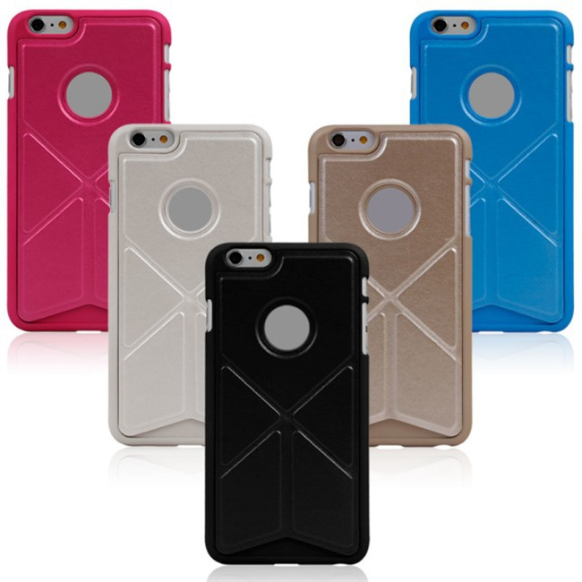 High Quality Stand Leather Transformers Cover For iPhone 6 Plus