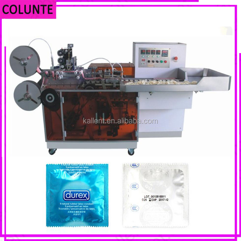 Pillow type four side condom packing machinery price