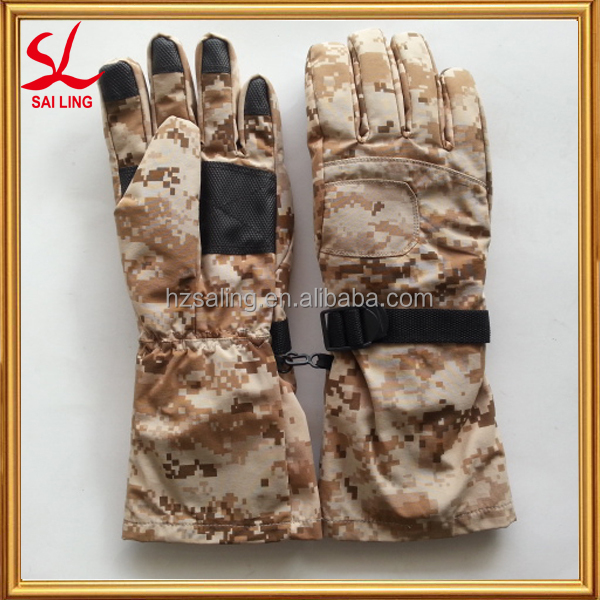 New Style Ski Gloves Winter Camouflage Snow Gloves China Suppliers