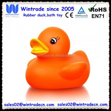 Orange pvc duck/floating plastic toy/cheap small gifts