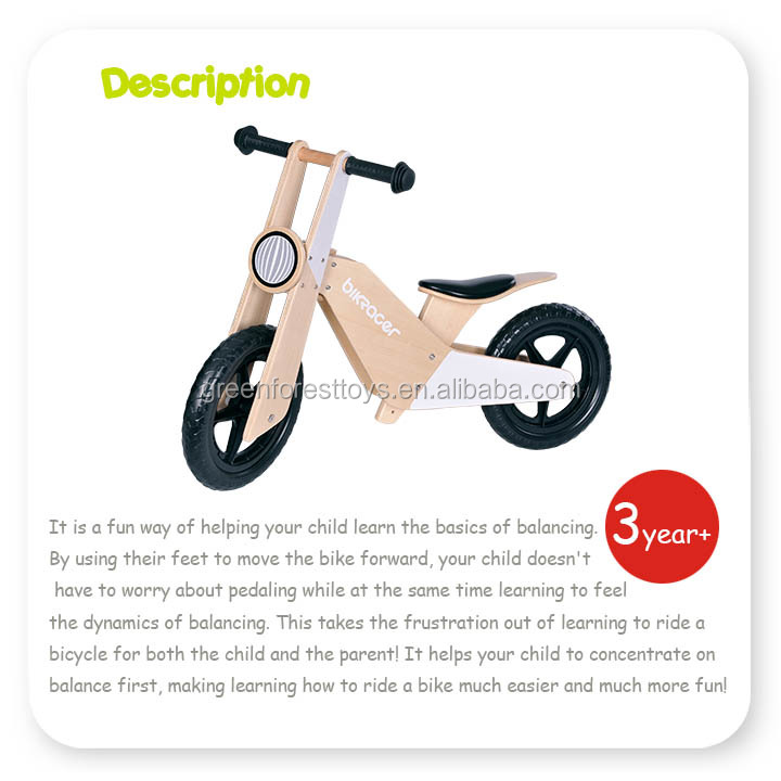 Top Quality Best Sale Made in China Kids Outdoor Toy With Wooden Balance Bike